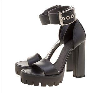 Alexander McQueen Ankle Strap Platform Sandal
